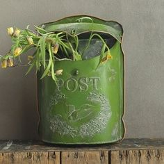 Green Vintage Inspired Mail Box