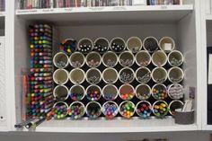 PVC Pipe Pen Storage