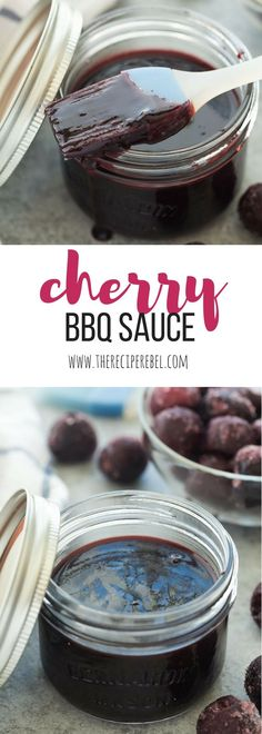 This Easy Homemade Cherry BBQ Sauce is made with fresh or frozen cherries and goes perfectly with chicken or pork. Make a big batch and keep it in the fridge or freezer all summer long! Includes how to recipe video | barbecue sauce | homemade sauce | grilling | grilled