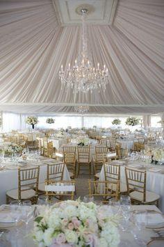 gorgeous wedding tent decor.
