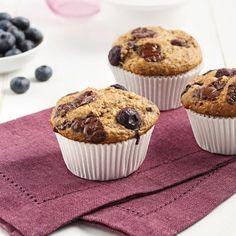 Muffins aux bleuets et chocolat noir - Recettes - Cuisine et nutrition - Pratico Pratique