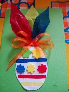 Lavoretti di Pasqua per bambini biglietto d'auguri fai da te originale (7)