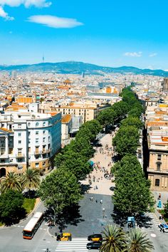 Las Ramblas, a series of 5 stretches of road that run through central Barcelona, is known collectively just as La Rambla. Along the path are numerous shops, cafes and bars as well as some interesting attractions.