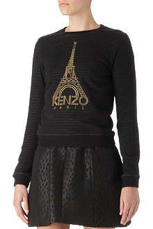 KENZO Eiffel Tower embroidered jumper