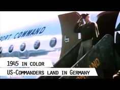 Truman and Eisenhower landing in Germany 1945 for the Potsdam Conference - YouTube