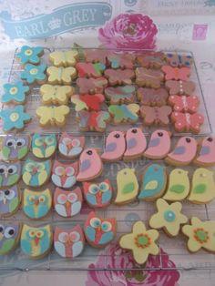 Bird/owl shortbread biscuits