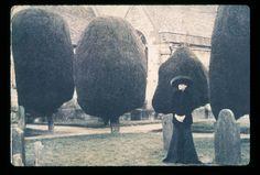 Deborah Turbeville  Selina Blow, Painswick cemetery, England, 1992
