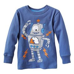 Jumping Beans Googly Eye Robot Tee - Toddler