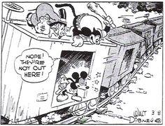 Mickey Mouse, by Floyd Gottfredson 1930s Cartoons, Classic Cartoons, What A Cartoon, Ub Iwerks, Funny Animal Comics, Classic Mickey Mouse, Superman Comic, Old Comics, Disney Magic
