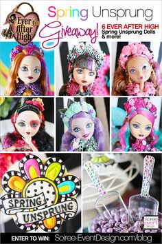   Ever After High Party – Spring Unsprung GIVEAWAY!   http://soiree-eventdesign.com