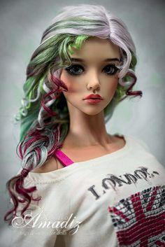 Lollo bianco natural angora wig for bjd SD MSD от AmadizStudio Pretty Dolls, Beautiful Dolls, Ooak Dolls, Barbie Dolls, Realistic Dolls, Doll Repaint, Doll Hair, Custom Dolls, Ball Jointed Dolls