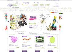MegaCrea.com - loisirs créatifs  Boutique en ligne rassemblant plus de 5000 références : Navigation menu XL trois niveaux  - Navigation par marque  - Multi-filtres     Les internautes peuvent ajouter leurs réalisations pour profiter des retours de la communauté.