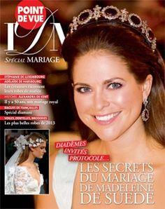 Princesas: Princess Madeleine of Sweden on the cover of Point de Vue, Images du Monde, Spécial Mariage