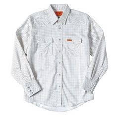 8571f597 Wrangler FR Lightweight Work Shirt - White Plaid