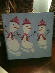 Bonhommes de neige pieds