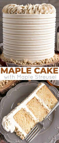 Beaux Desserts, Köstliche Desserts, Delicious Desserts, Cupcake Recipes, Baking Recipes, Cupcake Cakes, Maple Dessert Recipes, Maple Syrup Recipes, Fall Cake Recipes