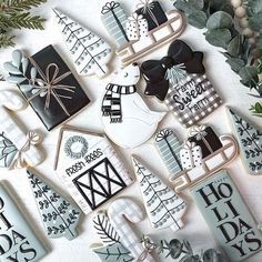 Cookie Decorating, Sugar Cookies, Christmas Cookies, Bakery, Give It To Me, Sweet, Winter, Farmhouse, Profile