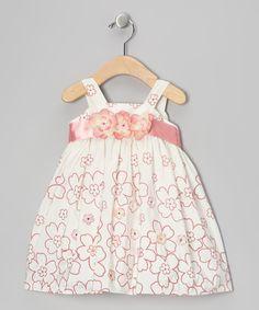 Cream & Misty Mauve Floral Dress - Infant & Toddler