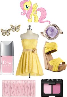 """""""Fluttershy"""" by theisshelby on Polyvore"""