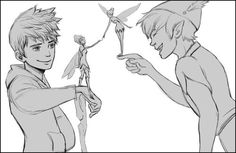 Jack Frost and Peter Pan! Yes! I'd like to think they were brothers in another life. But that's just me.