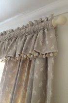 35 Trendy Ideas For Bedroom Curtains Ideas Window Treatments Fabrics Cortinas Country, Cortinas Shabby Chic, Cottage Curtains, Curtains With Blinds, Curtain Fabric, Drapes Curtains, Bedroom Curtains, Valances, Home Decor Accessories