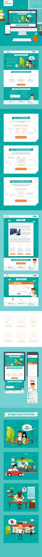 Creative web design & illustrations for financial online service https://ucbreport.ru/   #web #illustration #color #credit #money #finance #website