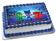 PJ MASKS 1 Edible Cake Topper & Cupcake Toppers – Edible Prints On Cake (EPoC)