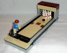 make lego bowling alley - Google Search Lego Modular, Lego Design, Lego Furniture, Minecraft Furniture, Furniture Ideas, Lego Sports, Lego Craft, Minecraft Crafts, Lego Activities