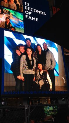We made it on the jumbo tron in Times Square!!!