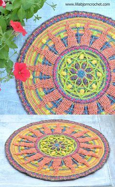 Sunny Mandala - overlay crochet pattern designed by www.lillabjorncrochet.com
