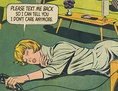 These old-school comics are scarily relatable for anyone who's been in a relationship! These old-school comics are scarily relatable for anyone who's been in a relationship! Comic Books Art, Comic Art, Book Art, Bd Comics, Comics Girls, Relationship Comics, Poesia Visual, Text Me Back, Vintage Pop Art