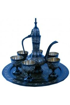 Have a look at this antique blue coloured royal wine set pure brass handicraft sunshine #decorativeitems #winesetonline #homedecor #onlinewineset  Shop now-  https://trendybharat.com/antique-black-royal-wine-set-pure-brass-handicraft-sunshine-srhcf182?search=handicraft%20items&page=6
