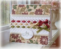 a christmas card challenge - love the pearls!
