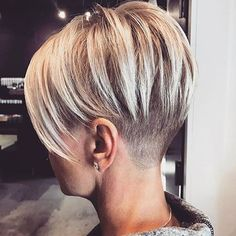 "Short Side Shaved Hair [ ""Pixie Cut 2017 Source Blonde Pixie Cut Source Cute Pixie Source Long Pixie Source Red Pixie Source Thick"", More Really Cute Pixie Hairstyles - crazyforus"", ""Long on top with an under shave. Pixie Hairstyles, Straight Hairstyles, Pixie Haircuts, 2018 Haircuts, Woman Hairstyles, Shaved Hairstyles, Elegant Hairstyles, Short Hair Cuts For Women, Short Hair Styles"