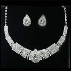 Jewelry Sets For Women Silver | Great Wedding Dress Accessories Jewelry Sets Two Piece Silver Alloy ...