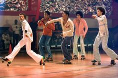 """""""Roll Bounce"""" movie roller dancers, coordinated by Bill Butler."""