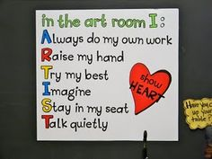 version of the art sign floating around pinterest - for if I ever get to fulfill my dream of being an elementary art teacher.