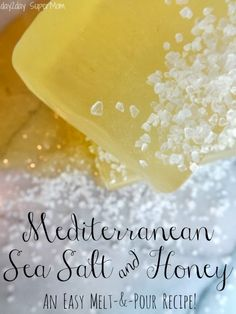 The best DIY projects & DIY ideas and tutorials: sewing, paper craft, DIY. DIY Skin Care Recipes : How to Make Mediterranean Sea Salt & Honey Soap (No Lye) diyhomesweethome. Salt And Honey, Melt And Pour, Diy Masque, Honey Soap, Easy Diy Gifts, Handmade Soaps, Diy Soaps, Homemade Beauty Products, Beauty Recipe