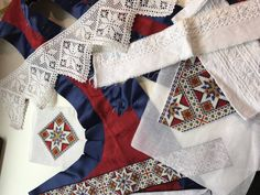 Made by Inger Johanne Wilde Scandinavian Embroidery, Norway, Quilts, Blanket, Sky, Patterns, Home Decor, Heaven, Block Prints