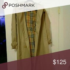 Burberry authentic Authentic Burberry coat for tall girl size 14 or size large has some missing buttons and some stains marks in different sections Make offer Burberry Jackets & Coats