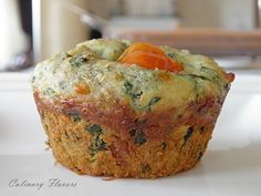 Spinach and Goat Cheese Muffins #BrunchWeek