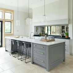 The Spenlow Archives - Humphrey Munson Kitchens Shaker Kitchen, New Kitchen, Kitchen Dining, Grey Kitchens, Home Kitchens, Modern Kitchens, Bespoke Kitchens, Salons Cosy, Open Plan Kitchen Living Room