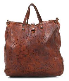 Lavata Tote Leather cognac 36 cm