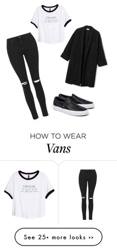 """""""Såå fint!❤️"""" by ebbis321 on Polyvore featuring Topshop, Vans and H&M"""