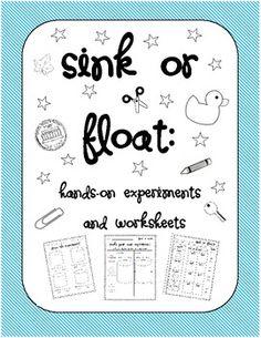 sink or float on pinterest sinks experiment and worksheets. Black Bedroom Furniture Sets. Home Design Ideas