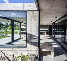 Charred Wood, Exposed Concrete, Weekend House, Exterior, Windows, Flooring, Architecture, Gallery, Photograph