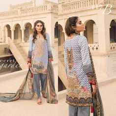 #Womens #Fashion #Pakistani #Designer #Suits #Haute #Couture for #work - #Musted Shirt #Musted Bottom #Embroidered  #premium lawn #suits #with #chiffon #dupattas.