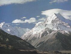 Aoraki or Aorangi (Mt Cook), the highest of the mountains.