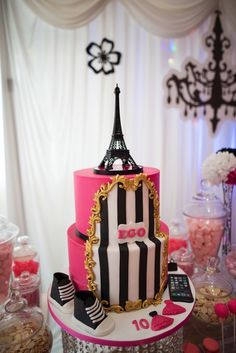 1000 images about parisian cakes on pinterest paris for 10th birthday party decoration ideas