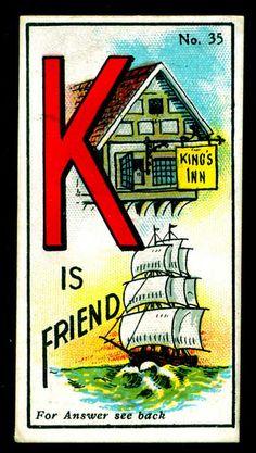 k - cigarette card , 1916
